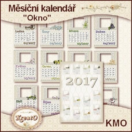 """Měsíční kalendář 2017 - """"Okno"""""""