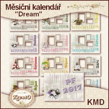 """Měsíční kalendář 2017 - """"Dream"""""""